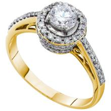 14K Yellow Gold Jewelry 0.76 ctw Diamond Bridal Ring - GD#41356 - REF#N105Y7