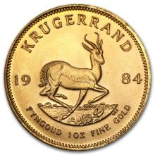 One 1984 South Africa 1 oz Gold Krugerrand - WJA88673