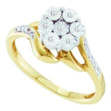 10K Yellow Gold Jewelry 0.04 ctw Diamond Ladies Ring - GD#45974 - REF#N13Y3