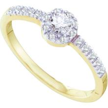 14K Yellow Gold Jewelry 0.25 ctw Diamond Bridal Ring - GD#24047 - REF#G20V4