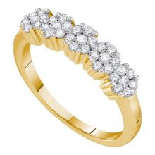 14K Yellow Gold Jewelry 0.25 ctw Diamond Ladies Ring - ID#F26L4-WGD19626