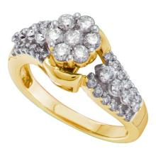 14K Yellow Gold Jewelry 1.0 ctw Diamond Ladies Ring - ID#A90K1-WGD38757