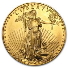 One 1992 1 oz Gold American Eagle BU - WJA9116
