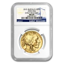 One 2015 1 oz Gold Buffalo MS-69 NGC (Early Releases) - WJA86098