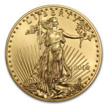 One 2014 1 oz Gold American Eagle BU - WJA79031