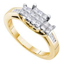 14K Yellow Gold Jewelry 0.50 ctw Diamond Ladies Ring - ID#Y51H6-WGD53494