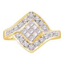 14K Yellow Gold Jewelry 0.50 ctw Diamond Ladies Ring - ID#K48V1-WGD16840