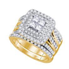14K Yellow Gold Jewelry 2.01 ctw Diamond Bridal Ring Set - ID#Y186H1-WGD75517
