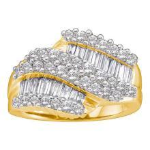 14K Yellow Gold Jewelry 1.5 ctw Diamond Ladies Ring - ID#T135F7-WGD28415