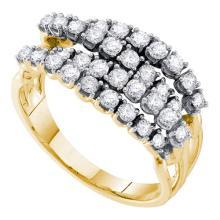 14K Yellow Gold Jewelry 1.0 ctw Diamond Ladies Ring - ID#R78A2-WGD53710