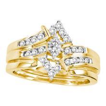 14K Yellow Gold Jewelry 0.50 ctw Diamond Bridal Ring Set - ID#L72N2-WGD14000