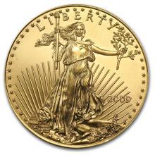 One 2009 1 oz Gold American Eagle BU - WJA48683