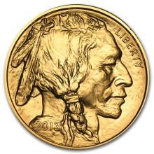 One 2013 1 oz Gold Buffalo BU - WJA71283