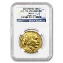 One 2011 1 oz Gold Buffalo MS-69 NGC (Early Releases) - WJA62749