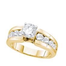 14K Yellow Gold Jewelry 1.75 ctw Diamond Bridal Ring - ID#L318N2-WGD52404