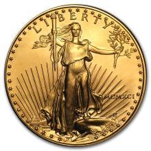 One 1991 1 oz Gold American Eagle BU - WJA7440