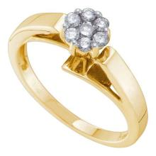 14K Yellow Gold Jewelry 0.25 ctw Diamond Ladies Ring - ID#H33Z7-WGD16868