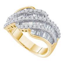 14K Yellow Gold Jewelry 1.72 ctw Diamond Ladies Ring - ID#M90Y1-WGD28193