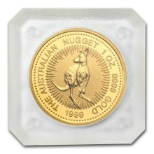 One 1999 Australia 1 oz Gold Nugget BU - WJA63964