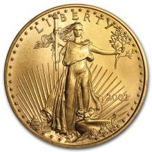 One 2003 1 oz Gold American Eagle BU - WJA9118