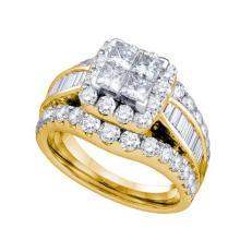 14K Yellow Gold Jewelry 2.0 ctw Diamond Bridal Ring - ID#M168Y2-WGD67240