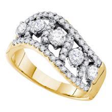 14K Yellow Gold Jewelry 1.0 ctw Diamond Ladies Ring - ID#M87Y6-WGD40302