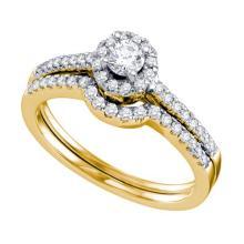 14K Yellow Gold Jewelry 0.51 ctw Diamond Bridal Ring Set - ID#N66T2-WGD67267
