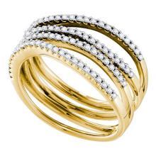 14K Yellow Gold Jewelry 0.50 ctw Diamond Ladies Ring - ID#L57N6-WGD48412