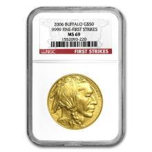 One 1 oz Gold Buffalo MS-69 NGC (Random Year) - WJA83491