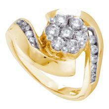14K Yellow Gold Jewelry 1.0 ctw Diamond Ladies Ring - ID#V90R1-WGD16971