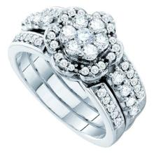 14K Yellow Gold Jewelry 1.0 ctw Diamond Bridal Ring Set - ID#Z120M1-WGD45417