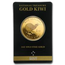 One New Zealand 1 oz Gold Kiwi .9999 (In Black Assay Card) - WJA75794