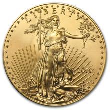 One 2010 1 oz Gold American Eagle BU - WJA57011