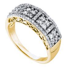 14K Yellow Gold Jewelry 0.52 ctw Diamond Ladies Ring - ID#Z45M7-WGD58686
