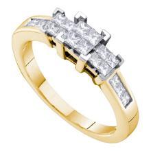 14K Yellow Gold Jewelry 0.50 ctw Diamond Ladies Ring - ID#N51T6-WGD53493