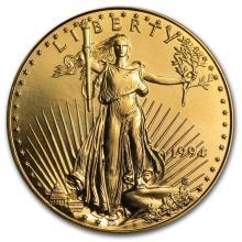 One 1994 1 oz Gold American Eagle BU - WJA8555