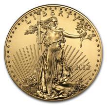 One 2012 1 oz Gold American Eagle BU - WJA65079