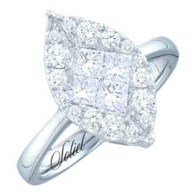 14K White Gold Jewelry 0.25 ctw Diamond Bridal Ring - ID#R36A2-WGD47552