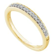 14K Yellow Gold Jewelry 0.15 ctw Diamond Ladies Ring - ID#T21F2-WGD53708