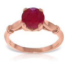 Genuine 2 ctw Ruby Ring Jewelry 14KT Rose Gold  - ID#Z37F3-WGG4581