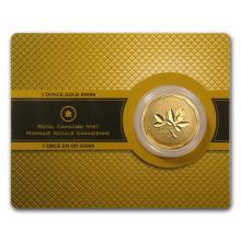 One 2008 Canada 1 oz Gold Maple Leaf .99999 BU (w/Assay Card) - WJA42882