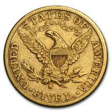 One $5 Liberty Gold Half Eagle XF (Random Years) - WJA119