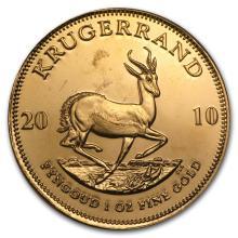 One 2010 South Africa 1 oz Gold Krugerrand - WJA57268