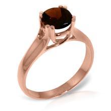Genuine 1.1 ctw Garnet Ring Jewelry 14KT Rose Gold  - WGG#3153