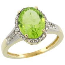 Natural 2.49 ctw Aquamarine & Diamond Engagement Ring 14K Yellow Gold - WSC#CY412109