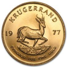 One 1977 South Africa 1 oz Gold Krugerrand - WJA87904