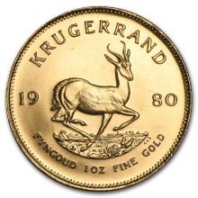 One 1980 South Africa 1 oz Gold Krugerrand - WJA88140
