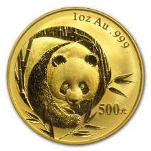 One 2003 China 1 oz Gold Panda BU (Sealed) - WJA11190
