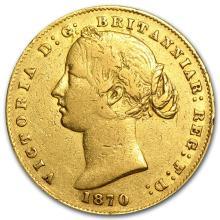 One 1870 Australia Gold Sovereign VF 0.2354 oz - WJA79681