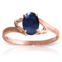 Genuine 1 ctw Sapphire Ring Jewelry 14KT Rose Gold  - WGG#2086
